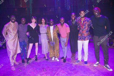 Kwame Kwei-Armah (Author/Director), Kurt Egyiawan (Lundi), Lucy Briggs-Owen (Cezanne), Daniella May (Ancestor/Ensemble), Joan Iyiola (Ofentse), Andile Sotiya (Ancestor/Ensemble), Anna-Kay Alicia Gayle (Ancestor/Ensemble), Alfred Enoch (Kaleo) and Idris Elba (Author)