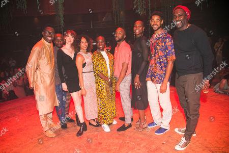 Stock Image of Kwame Kwei-Armah (Author/Director), Kurt Egyiawan (Lundi), Lucy Briggs-Owen (Cezanne), Daniella May (Ancestor/Ensemble), Joan Iyiola (Ofentse), Andile Sotiya (Ancestor/Ensemble), Anna-Kay Alicia Gayle (Ancestor/Ensemble), Alfred Enoch (Kaleo) and Idris Elba (Author)