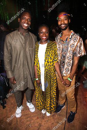 Kobna Holdbrook-Smith, Joan Iyiola (Ofentse) and Mbulelo Ndabeni (Ancestor/Ensemble)