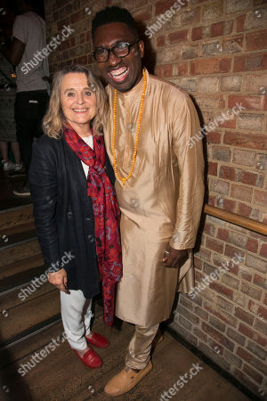 Sinead Cusack (Elzebe) and Kwame Kwei-Armah (Author/Director)