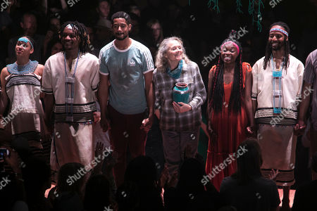 Editorial picture of 'Tree' curtain, Press Night, London, UK - 01 Aug 2019