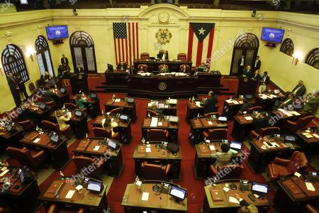 A general view of the Puerto Rican Gongress during an ordinary session to confirm the appointment of Pedro Pierluisi as Secretary of State, in San Juan, Puerto Rico, 01 August 2019. If appointed as Secretary of State, Pierluisi will replace Governor Ricardo Rossello according to Puerto Rico's law, who will officially resign on the following day after a national crisis triggered by the leak of controversial private chats, if he gets the required number of votes. The Justice Secretary Wanda Vazquez will be next in line if the position of Secretary of State was not filled by 02 August.