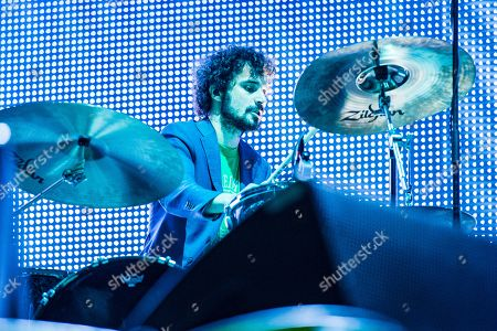 Stock Image of Fabrizio Moretti of The Stokes performs on day one of Lollapalooza in Grant Park, in Chicago