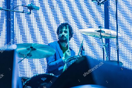 Fabrizio Moretti of The Stokes performs on day one of Lollapalooza in Grant Park, in Chicago