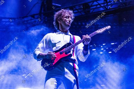 Albert Hammond Jr. of The Strokes performs on day one of Lollapalooza in Grant Park, in Chicago