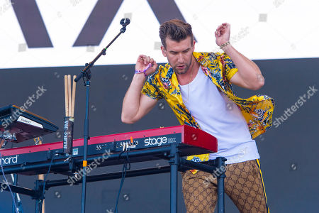 Max Frost performs on day one of Lollapalooza in Grant Park, in Chicago