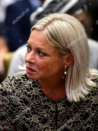 Jeanine Hennis-Plasschaert, UN Special Representative for Iraq and Head of the United Nations Assistance Mission for Iraq (UNAMI) attends a conference on the occasion of the fifth anniversary of the genocide by IS against Yazidis sect, in Baghdad, Iraq 01 August 2019. The Kurdish northern Iraq is home to the Yazidi religious minority who was attacked and expelled by the Islamic State (IS) militia group in 2014. Hundreds of people were taken hostages then, including women used as sex slaves and as gifts between the militia fighters.