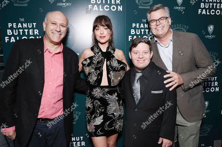 Stock Image of Howard Cohen, Dakota Johnson, Zack Gottsagen and Eric d'Arbeloff
