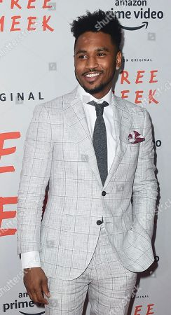 Trey Songz attends the Amazon Prime Video Free Meek NYC Premiere on August 1, 2019, at Ziegfeld Ballroom in New York, New York.