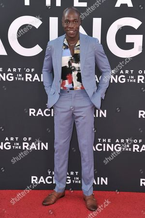 """McKinley Belcher III attends the LA premiere of """"The Art of Racing in the Rain"""" at the El Capitan Theatre, in Los Angeles"""