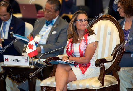 Stock Photo of Canada's Foreign Minister Chrystia Freeland attends the Association of Southeast Asian Nations (ASEAN) Regional Forum in Bangkok, Thailand