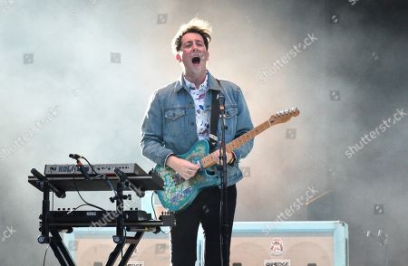 Matthew Murphy of The Wombats performs at MetLife Stadium on Thursday, Aug.1, 2019, in East Rutherford, N.J