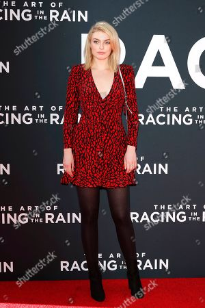 Lola Lennox arrives for the premiere of The Art of Racing in the Rain at the El Capitan Theatre in Hollywood, Los Angeles, California, USA 01 August 2019. The movie opens in the US 09 August 2019.