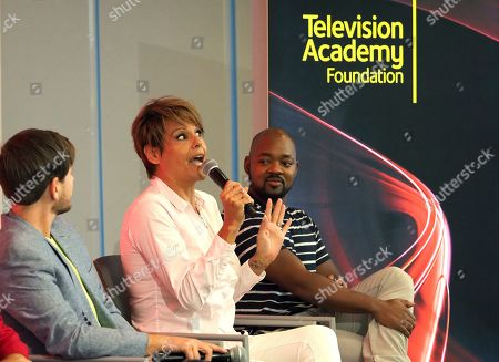 Alex Blue Davis, Alexandra Billings, Brian Michael Smith. Alex Blue Davis, from left, Alexandra Billings, and Brian Michael Smith take part in The Power of TV: Trans Visibility in Storytelling, a Television Academy Foundation public event focused on representation of trans individuals in television and the pathways to increased visibility, at the Television Academy's Saban Media Center on in North Hollywood, Calif
