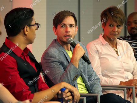 Steven Canals, Alex Blue Davis, Alexandra Billings. Steven Canals, from left, Alex Blue Davis, and Alexandra Billings, take part in The Power of TV: Trans Visibility in Storytelling, a Television Academy Foundation public event focused on representation of trans individuals in television and the pathways to increased visibility, at the Television Academy's Saban Media Center on in North Hollywood, Calif