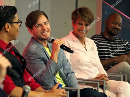Nick Adams, Lilly Wachowskis, Steven Canals, Alex Blue Davis, Alexandra Billings, Brian Michael Smith. Steven Canals, from left, Alex Blue Davis, Alexandra Billings, and Brian Michael Smith take part in The Power of TV: Trans Visibility in Storytelling, a Television Academy Foundation public event focused on representation of trans individuals in television and the pathways to increased visibility, at the Television Academy's Saban Media Center on in North Hollywood, Calif