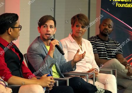 Steven Canals, Alex Blue Davis, Alexandra Billings, Brian Michael Smith. Steven Canals, from left, Alex Blue Davis, Alexandra Billings, and Brian Michael Smith take part in The Power of TV: Trans Visibility in Storytelling, a Television Academy Foundation public event focused on representation of trans individuals in television and the pathways to increased visibility, at the Television Academy's Saban Media Center on in North Hollywood, Calif