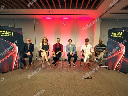 Nick Adams, Lilly Wachowskis, Steven Canals, Alex Blue Davis, Alexandra Billings, Brian Michael Smith. Moderator Nick Adams, Director of Transgender Representation for GLAAD, from left, and panelists Lilly Wachowskis, Steven Canals, Alex Blue Davis, Alexandra Billings, and Brian Michael Smith take part in The Power of TV: Trans Visibility in Storytelling, a Television Academy Foundation public event focused on representation of trans individuals in television and the pathways to increased visibility, at the Television Academy's Saban Media Center on in North Hollywood, Calif