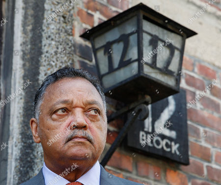 The American civil rights activist Rev. Jesse Jackson visits the former Nazi death camp of Auschwitz-Birkenau in Oswiecim, Poland on . Rev. Jesse Jackson gathered Friday with survivors at the former Nazi death camp of Auschwitz-Birkenau to commemorate an often forgotten genocide ? that of the Roma people. In addition to the 6 million Jews killed in camps such as Auschwitz, the Nazis killed other minorities during World War II, including between 250,000 and 500,000 Roma and Sinti