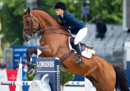 Athina Onassis (GRE) riding Corelli de Mies in action during the CS12 International Jumping Competition (1.25/1.30m)