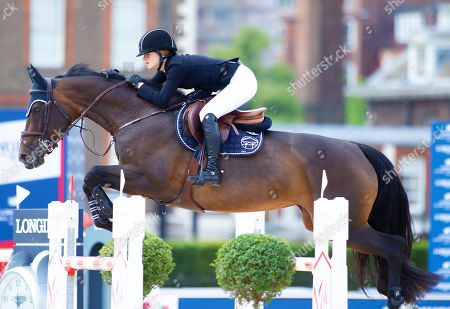 Jennifer Gates (USA) daughter of Microsoft Tycoon Bill Gates riding Dolinn in action during the CS15 International Jumping Competition (1.45m)