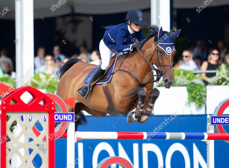 Stock Photo of Malin Baryard-Johnsson (SWE) riding H & M Indiana for Team Berlin Eagles during the Global Champions League Phase one