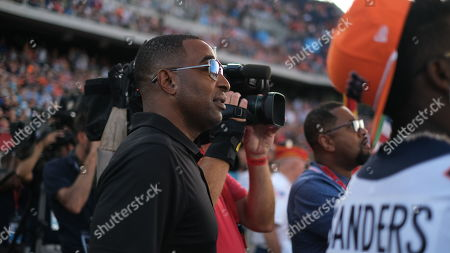 st, Chris Carter during the Atlanta Falcons vs Denver Broncos game at the Pro Football Hall of Fame Game in Canton, OH