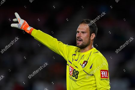 Stock Photo of Asmir Begovic of AFC Bournemouth during AFC Bournemouth vs SS Lazio, Friendly Match Football at the Vitality Stadium on 2nd August 2019