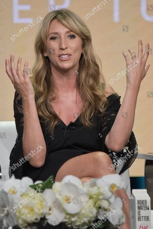 """Daisy Haggard participates in the Showtime """"Back To Life"""" panel during the Summer 2019 Television Critics Association Press Tour at the Beverly Hilton Hotel, in Beverly Hills, Calif"""
