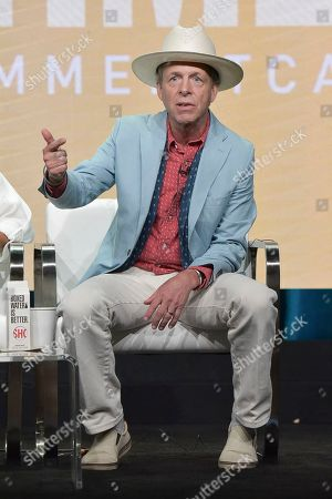 """Mark McKinnon participates in the Showtime """"The Circus"""" panel during the Summer 2019 Television Critics Association Press Tour at the Beverly Hilton Hotel, in Beverly Hills, Calif"""