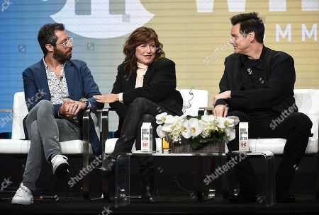 Jim Carrey with Catherine Keener and Dave Holstein