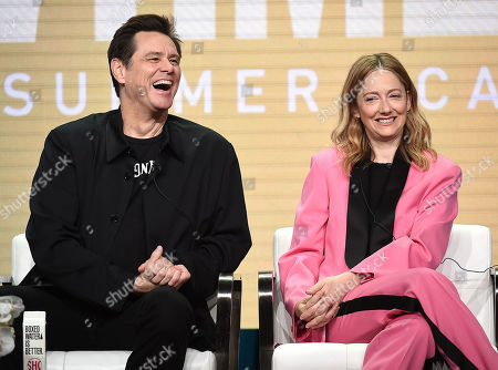 Jim Carrey and Judy Greer