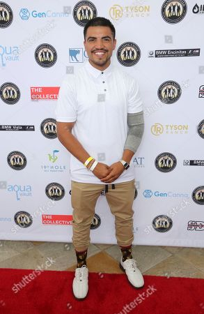 Victor Ortiz attends the Mike Tyson Standing United and the Tyson Ranch Celebrity Golf Tournament, in Dana Point, Calif