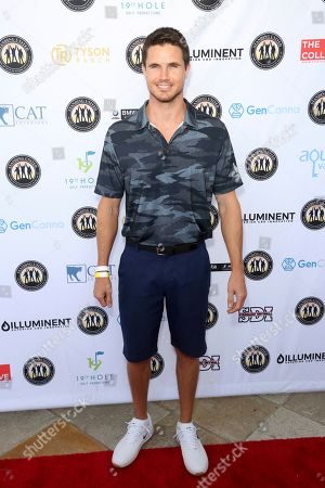Robbie Amell attends the Mike Tyson Standing United and the Tyson Ranch Celebrity Golf Tournament, in Dana Point, Calif