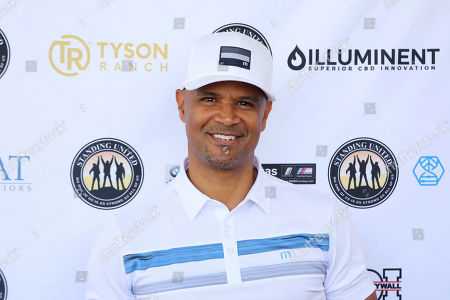 Dondre Whitfield attends the Mike Tyson Standing United and the Tyson Ranch Celebrity Golf Tournament, in Dana Point, Calif
