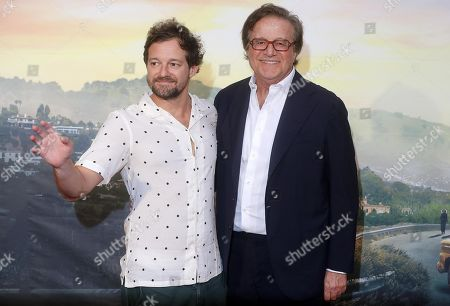 Christian De Sica (R) with his son Brando De Sica (L) at the Italian Premiere and red carpet of the movie, Once upon a time in... Hollywood, in Rome, Italy, 02 August 2019.