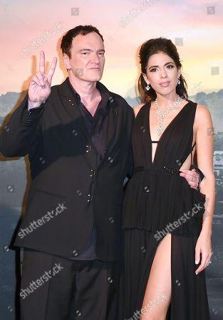 Quentin Tarantino and his wife Daniella Pick