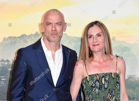 Filippo Nigro with his wife Gina Gardini