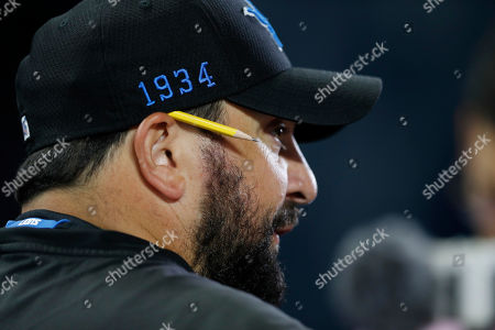 Detroit Lions head coach Matt Patricia talks to the media before an open practice at Ford Field, in Detroit