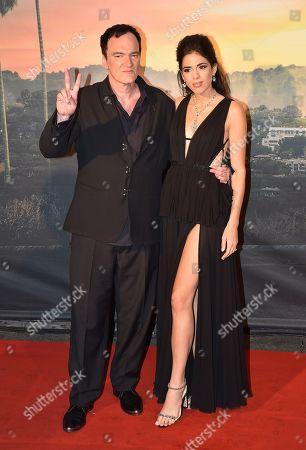 Stock Picture of Quentin Tarantino with his wife Daniella Pick