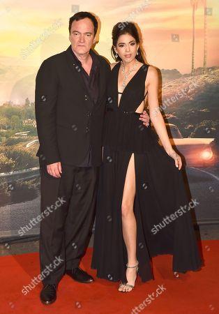 Stock Image of Quentin Tarantino with his wife Daniella Pick