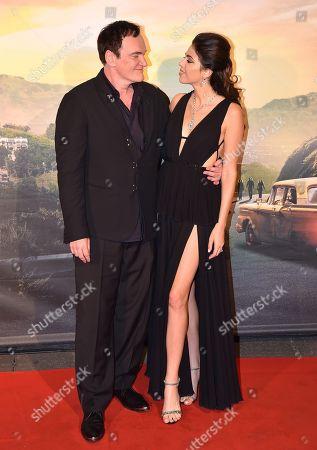 Quentin Tarantino with his wife Daniella Pick