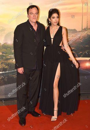 Stock Photo of Quentin Tarantino with his wife Daniella Pick