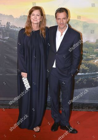 Stock Photo of David Heyman and his wife Rose Uniacke