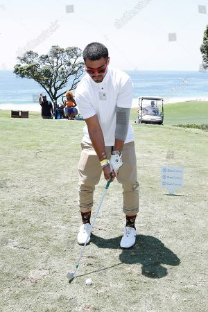 Stock Image of US boxer and actor Victor Ortiz participates in the first Mike Tyson Charity Golf Tournament benefitting Standing United at the Monarch Beach Resort in Dana Point, California, USA, 02 August 2019. The tournament was sponsored by the Tyson Ranch and aims to raise money and help people affected by addiction and homelessness.