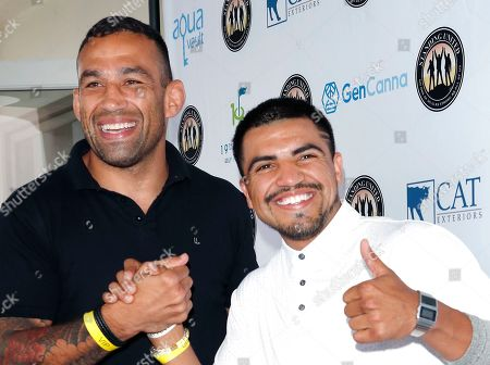 Stock Picture of Brazilian mixed martial artist and former UFC Heavyweight Champion Fabricio Werdum and US boxer and actor Victor Ortiz attend the first Mike Tyson Charity Golf Tournament benefitting Standing United at the Monarch Beach Resort in Dana Point, California, USA, 02 August 2019. The tournament was sponsored by the Tyson Ranch and aims to raise money and help people affected by addiction and homelessness.