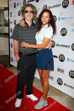 Stock Image of US Producer Bev Land and Dominican actress Dania Ramirez (R) attend the first Mike Tyson Charity Golf Tournament benefitting Standing United at the Monarch Beach Resort in Dana Point, California, USA, 02 August 2019. The tournament was sponsored by the Tyson Ranch and aims to raise money and help people affected by addiction and homelessness.