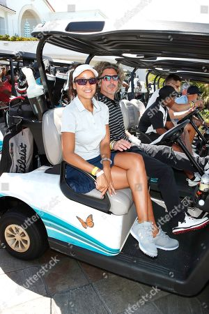 US Producer Bev Land (C) and Dominican actress Dania Ramirez (L) attend the first Mike Tyson Charity Golf Tournament benefitting Standing United at the Monarch Beach Resort in Dana Point, California, USA, 02 August 2019. The tournament was sponsored by the Tyson Ranch and aims to raise money and help people affected by addiction and homelessness.