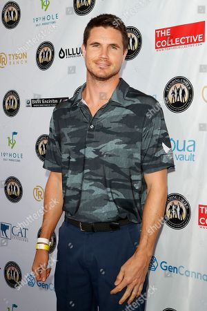 Stock Picture of US actor Robbie Amell attends the first Mike Tyson Celebrity Golf Tournament benefitting Standing United at the Monarch Beach Resort in Dana Point, California, USA 02 August 2019. The tournament was sponsored by the Tyson Ranch and aims to help people affected by addiction and homelessness.