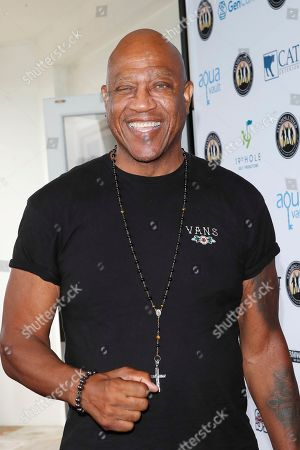 Stock Image of US actor and wrestler Tiny Lister attends the first Mike Tyson Celebrity Golf Tournament benefitting Standing United at the Monarch Beach Resort in Dana Point, California, USA 02 August 2019. The tournament was sponsored by the Tyson Ranch and aims to help people affected by addiction and homelessness.